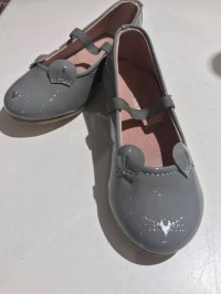 #7950 Size: : 2-4yrs Dusty Grey Little Mouse Shoes