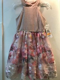 #9320 size: 7/8/12/14/16 yrs Floral party dress