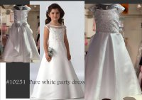 #10251 size : 6-7/10-11/12-13yrs Pure white party dress