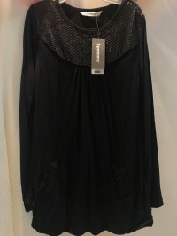#9277 size 9/10 yrs Black Sequin long sleeve dress