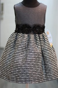 #6613 size:2歲yrs black party dress