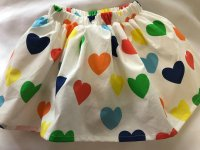 #9268 Size ( 1-2/3-4/4-5/5-6/6-7/7-8yrs) 100% cotton Colorful heart skirt with inner skirt