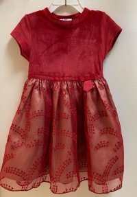 #12137 size : 2/3-4/8-9/9-10/10-11/11-12yrs red party dress