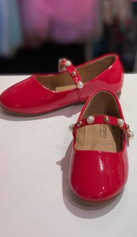 #11664 Red Patent Leather Shoes (fit for 2-8 yrs)