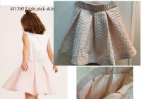 #11305 size: 4-5/5-6/7-8/10-12/13-14yrs Light pink color skirt