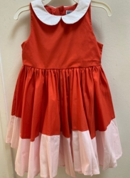 #12477 Size:2/3/10/12yrs red and pink party dress